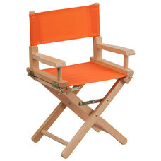 Kid Size Directors Chair in Orange