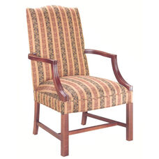5022 Lounge Chair: Martha Washington w/ Chippendale Legs - Grade 1
