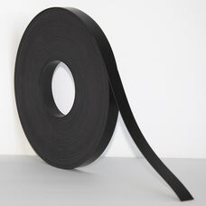 .375''H x 50'L Colored Magnetic Strips - Black