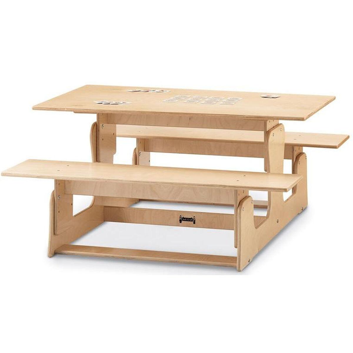 Adjustable picnic table and bench 3820jc schoolfurniture4less our indoor height adjustable picnic table and bench is on sale now watchthetrailerfo