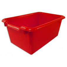Versatile Scoop Front Plastic Storage Bins - Red - 11.5