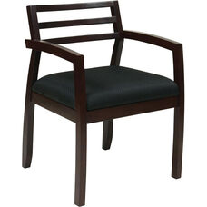 OSP Furniture Napa Guest Chair with Wood Back - Espresso